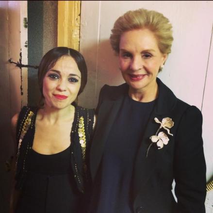 Olga Pericet with the prolific Venezuelan designer Carolina Herrera.